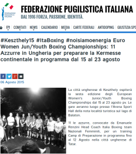 Tessari Biancamari farà parte della squadra azzurra per gli Europei in Ungheria